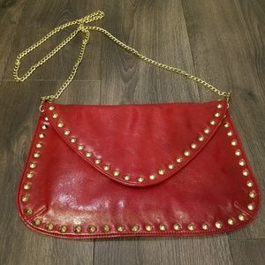 Steve Madden Red Clutch with Shoulder  Strap